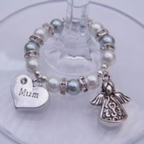 Mum Wine Glass Charms